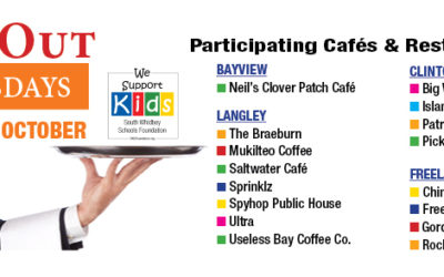 October Dine Out Wednesdays for South Whidbey Schools